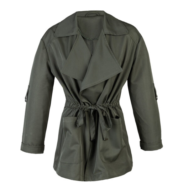 Ženska jakna, temno olivna