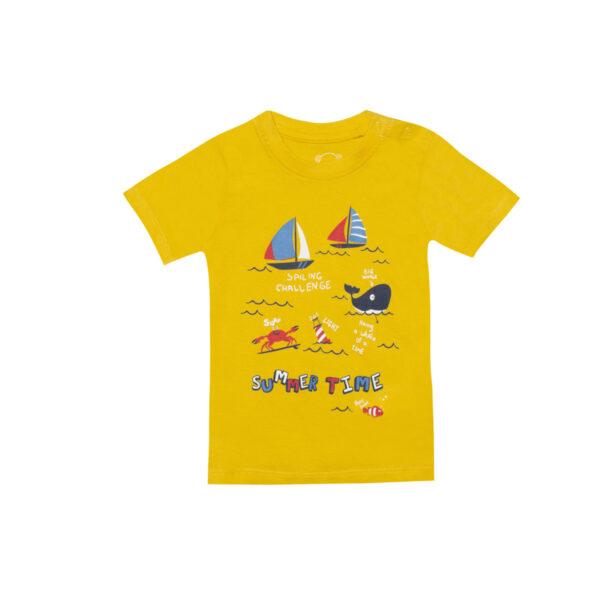 Baby majica, temno rumena