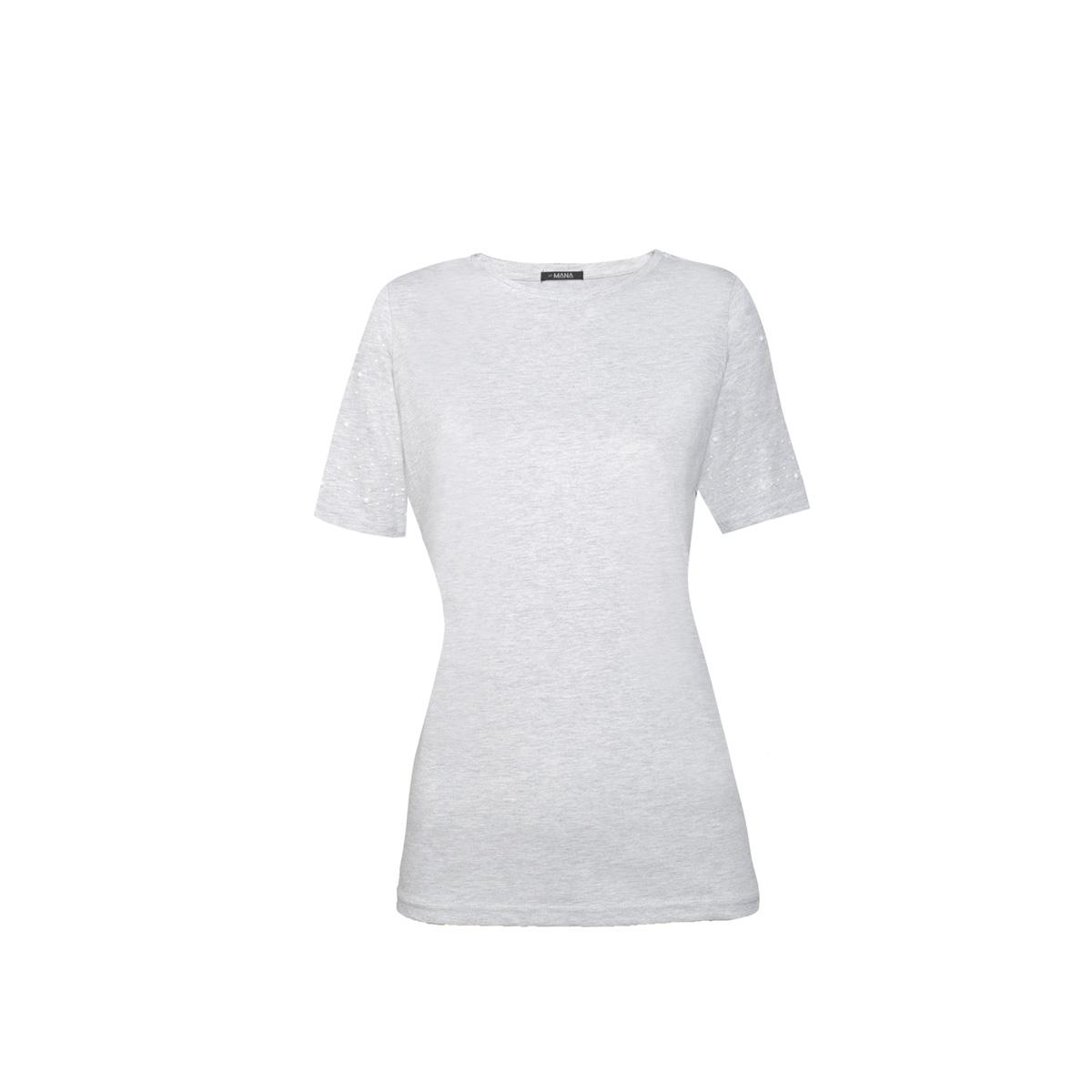 Ženska majica, melange siva