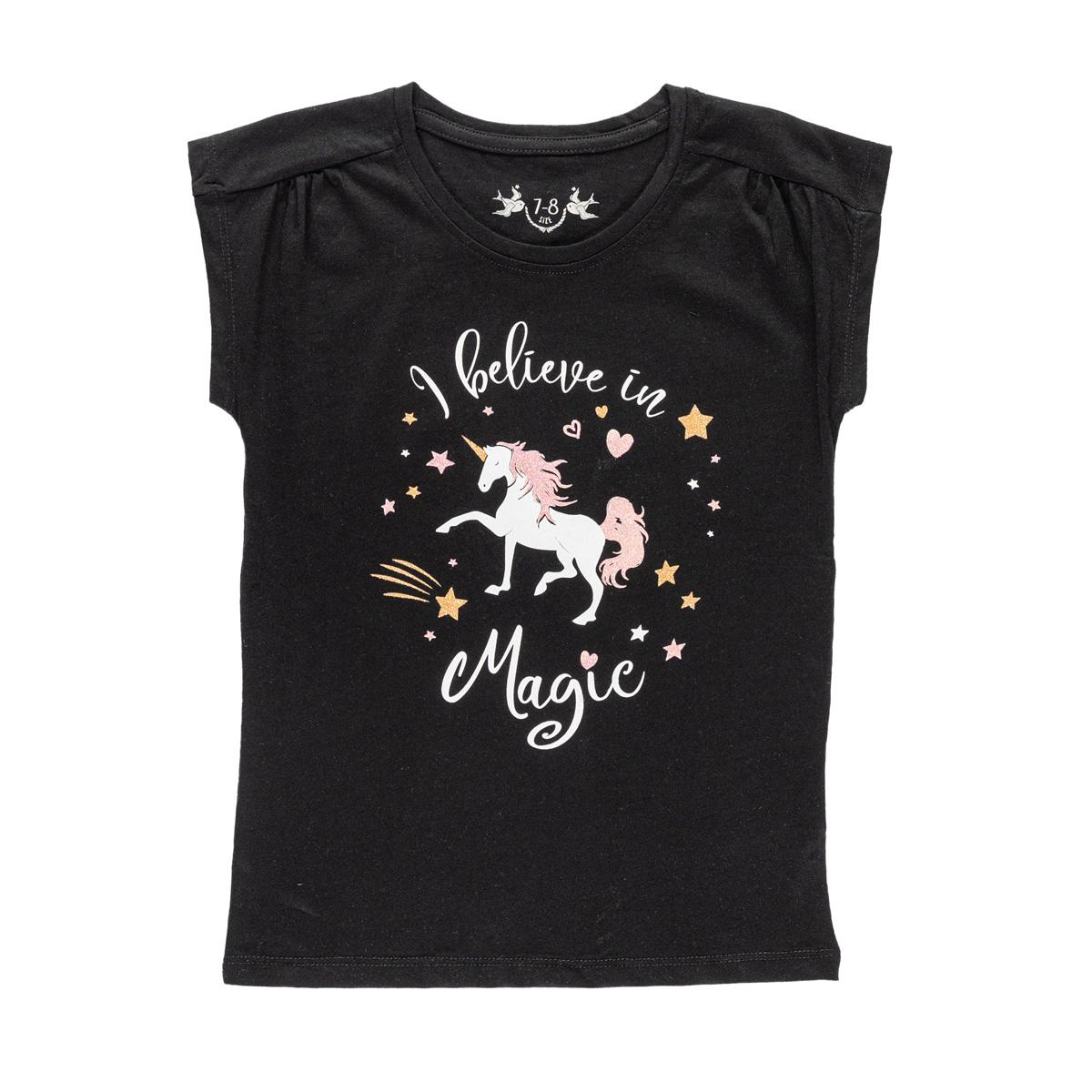 Dekliška majica, črna
