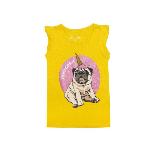 Dekliška majica, rumena