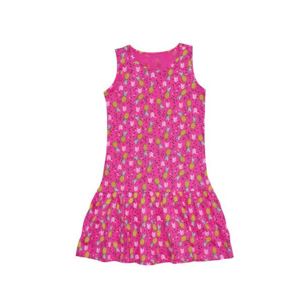 Dekliška obleka, svetlo roza