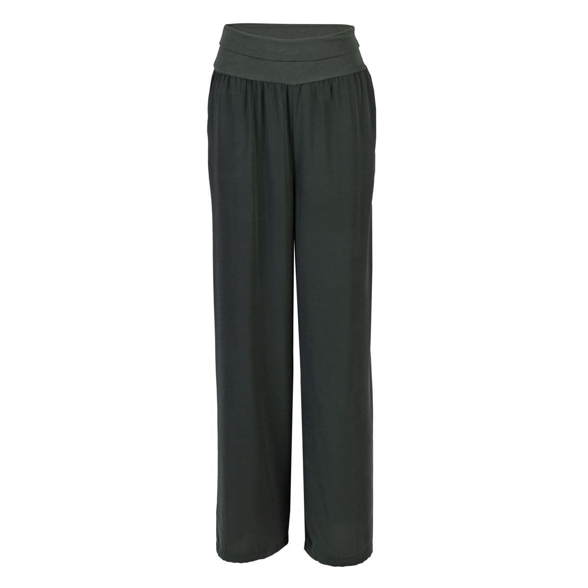 Ženske hlače, temno olivna