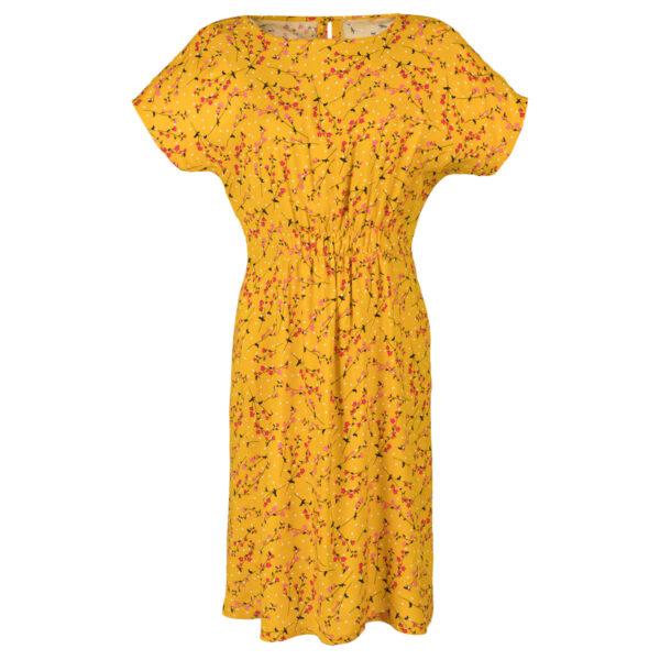 Ženska obleka, temno rumena