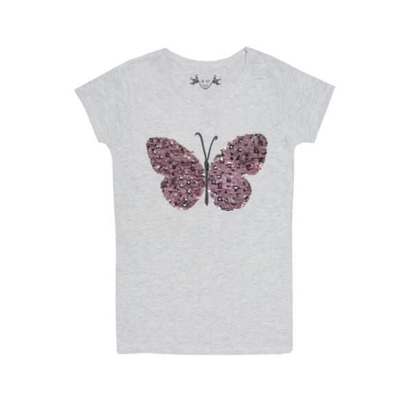 Dekliška majica, melange siva