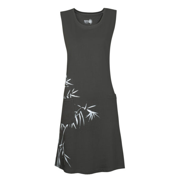 Ženska obleka, temno olivna