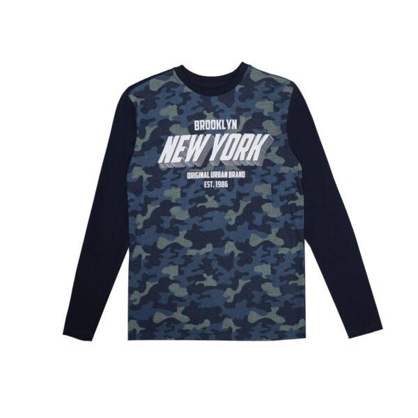 Fantovska majica, temno modra