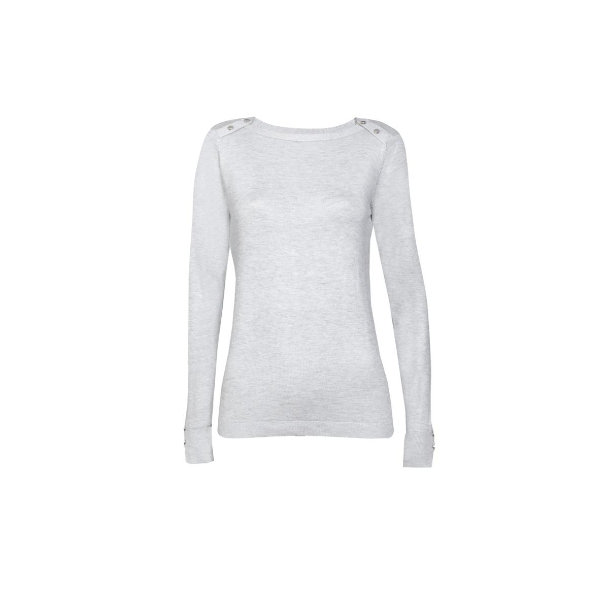 Ženski pulover, melange siva