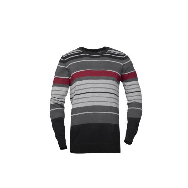 Moški pulover, melange siva