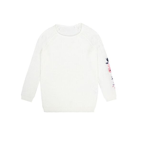 Dekliški pulover, umazano bela