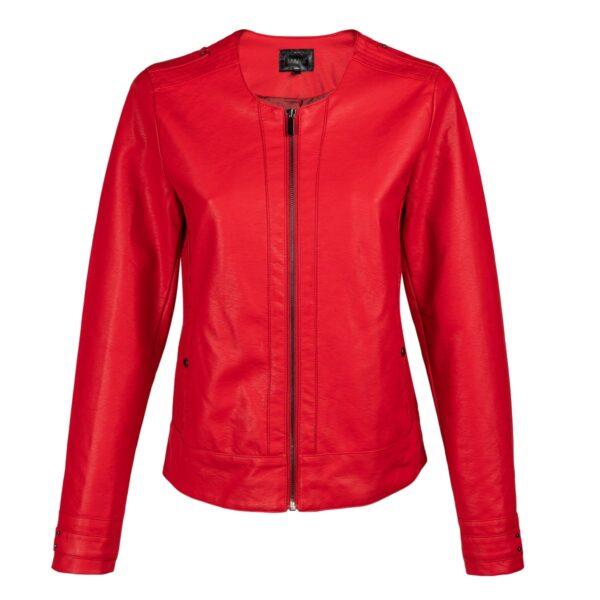 Ženska jakna, rdeča