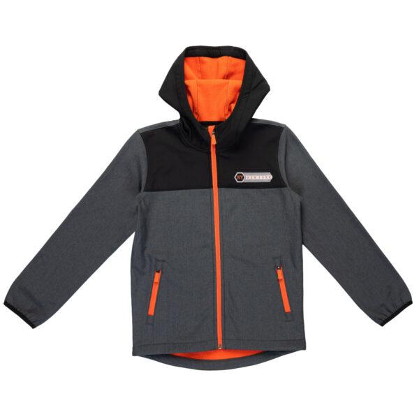 Fantovska jakna, temno melange siva