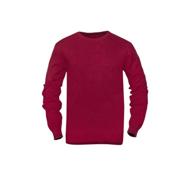 Moški pulover, temno rdeča