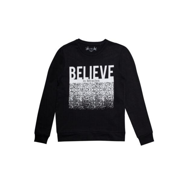 Dekliški pulover, črna