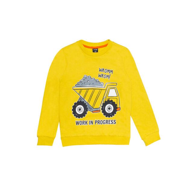 Fantovski pulover, rumena