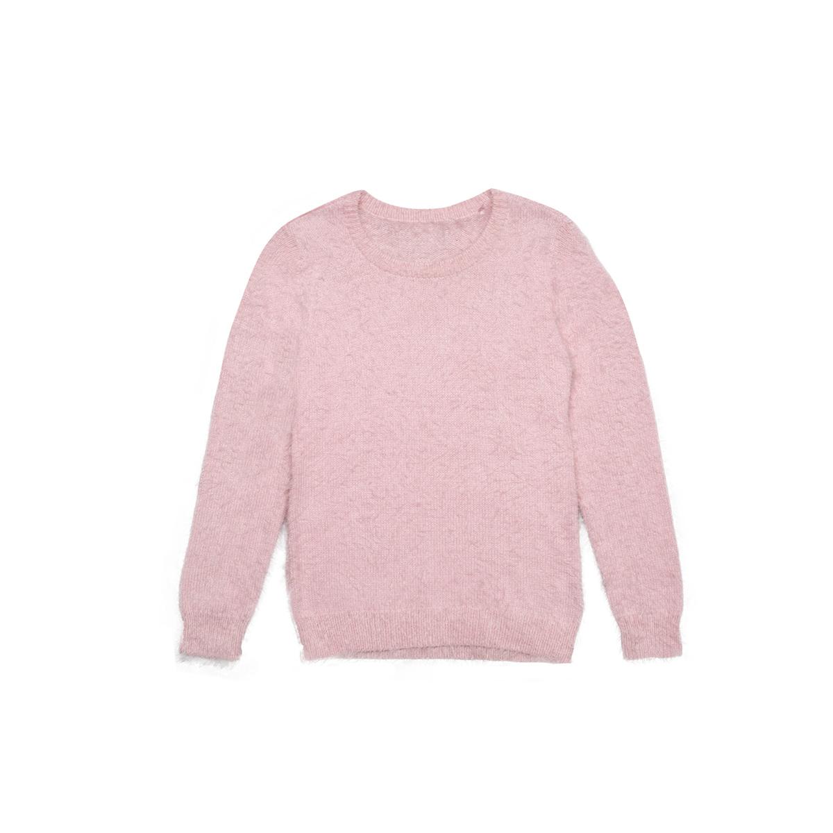 Dekliški pulover, svetlo roza