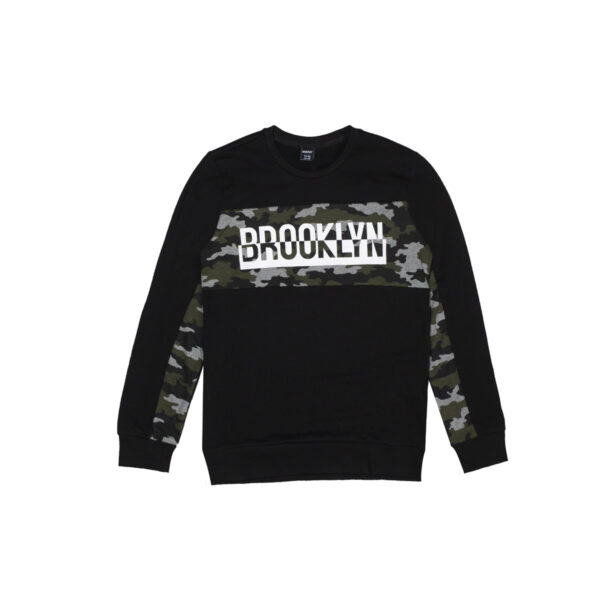 Fantovski pulover, črna