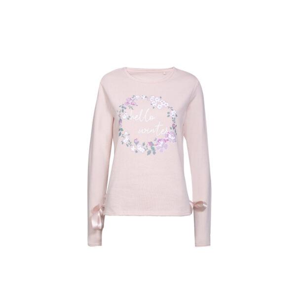 Ženski pulover, svetlo roza