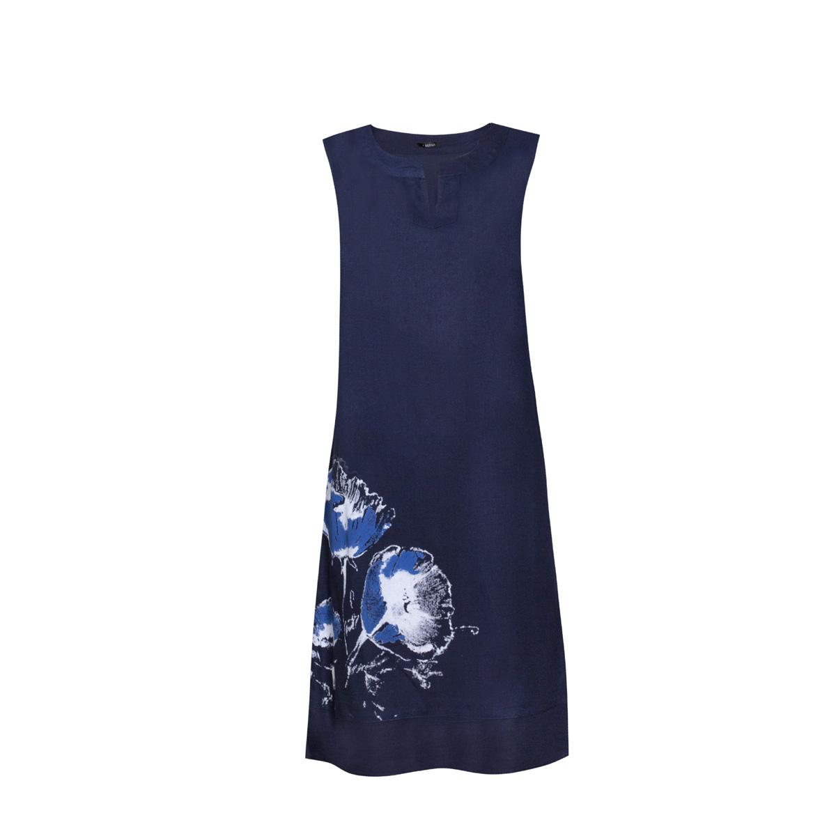 Ženska obleka, temno modra