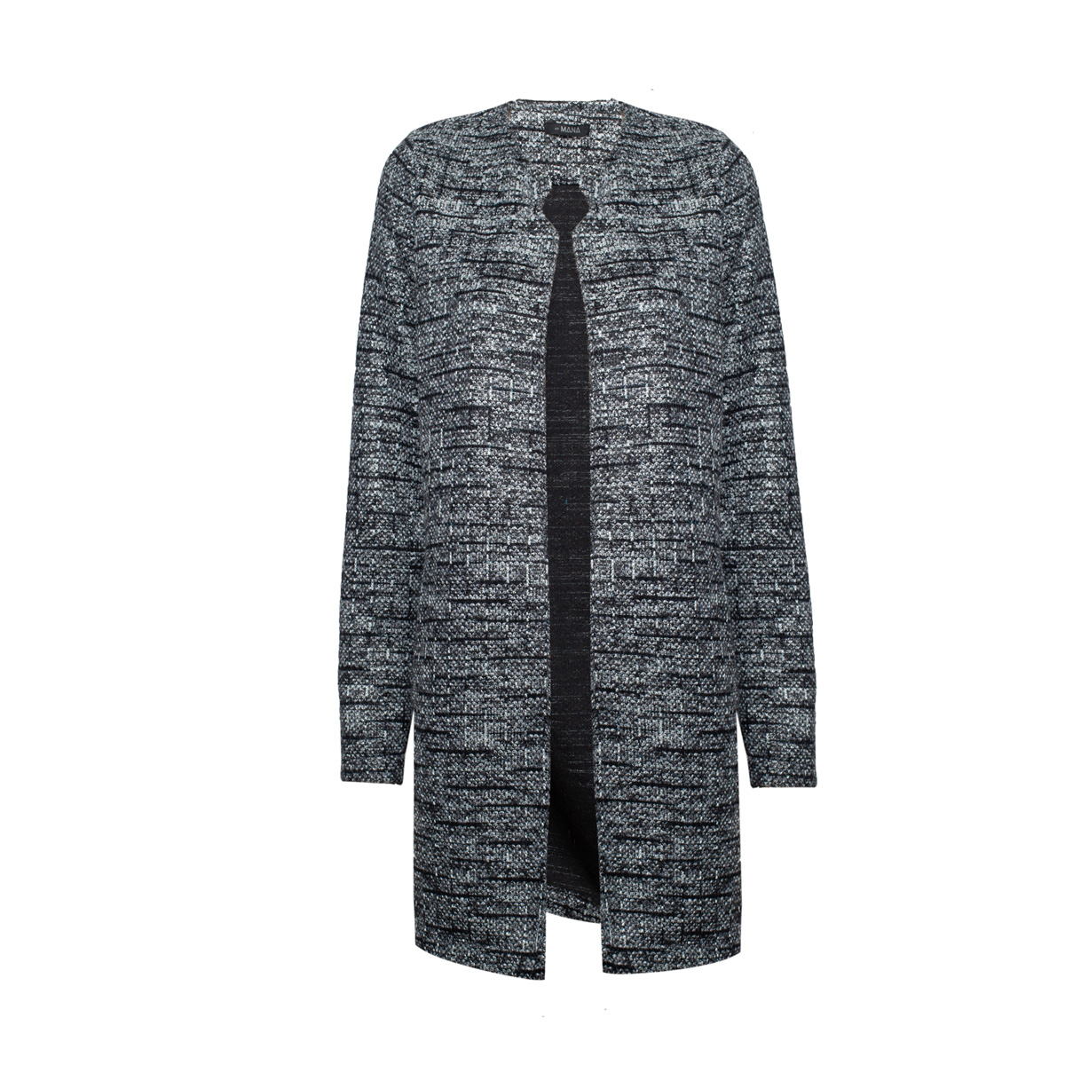 Ženska jakna, temno melange siva