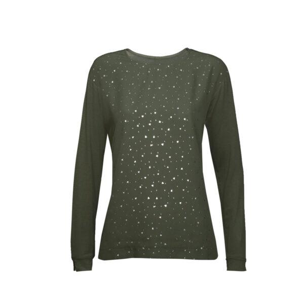 Ženska majica, temno olivna