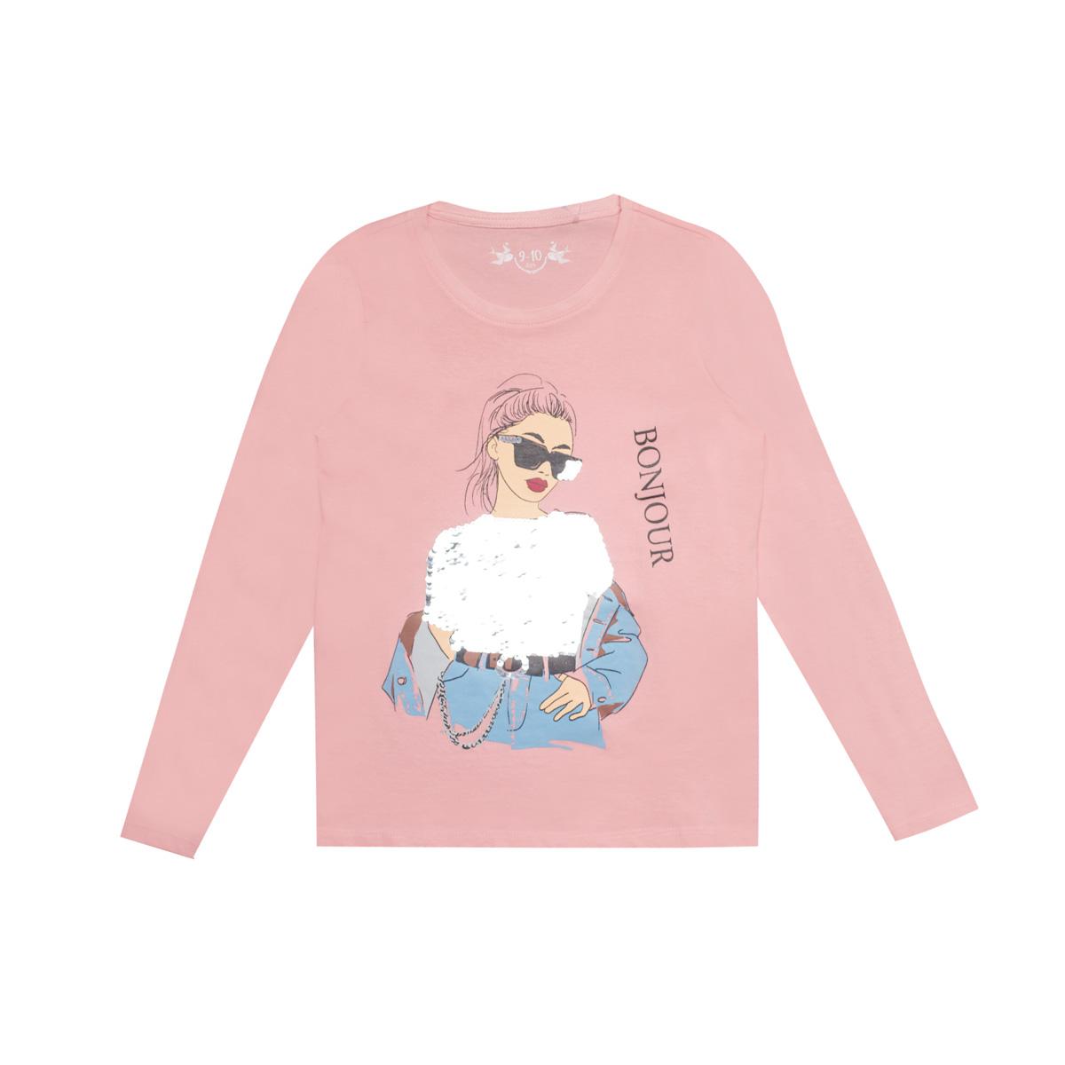 Dekliška majica, svetlo roza