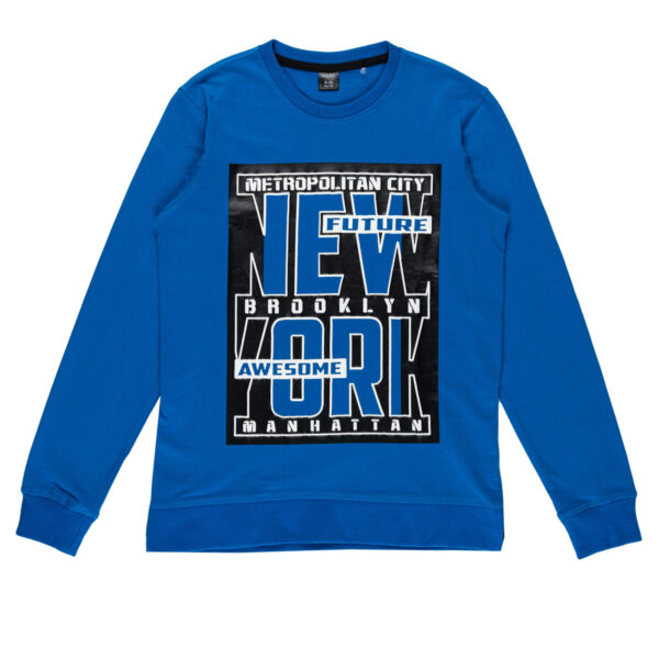 Fantovski pulover, modra