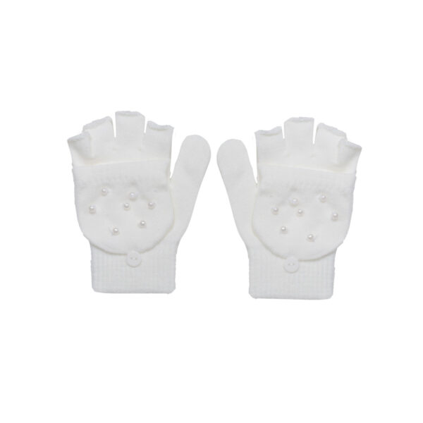Dekliške rokavice, umazano bela